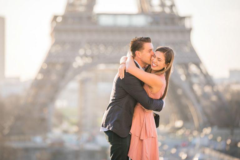 Eiffel Tower paris surprise proposal photo session